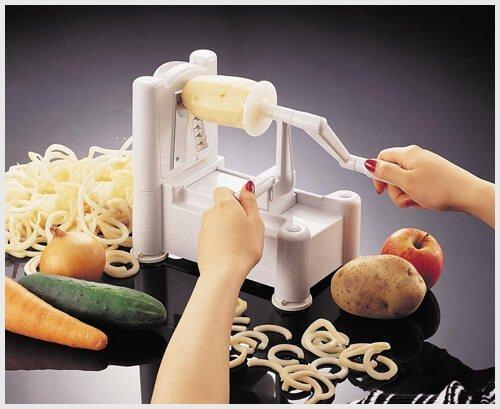 3 potato slicer options make your spuds into fancy fries - Paderno world cuisine tri blade spiral vegetable slicer ...