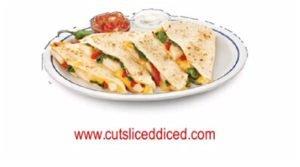 Crispy Chorizo Cheese Quesadilla