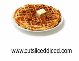 Pecan Biscuit Waffles