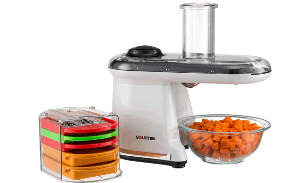 It has a push power button and comes with 5 different blades and cuts, dice, slice vegetables in different shapes easily. Read about the special feature, review and price here