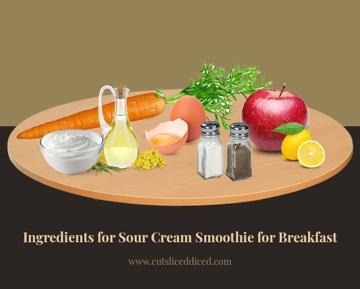Ingridients for Carrot, Apple Sour Cream Smoothie for Breakfast