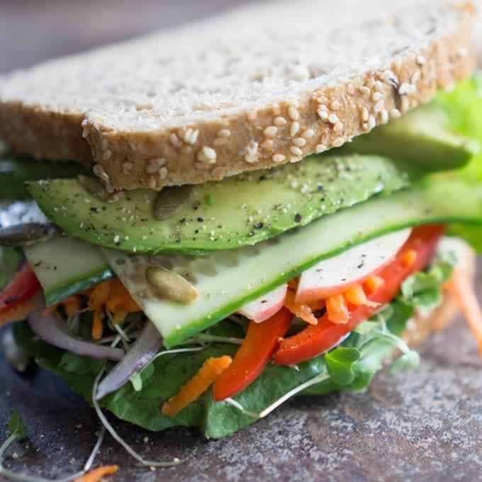 Veggie Salad Sandwiches
