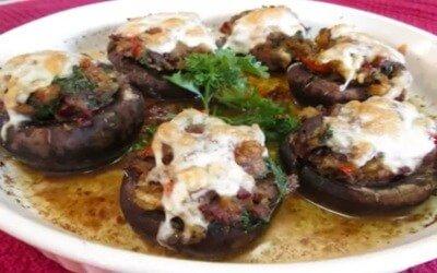 Bacon and Cheese Stuffed Portobello Mushroom Recipe