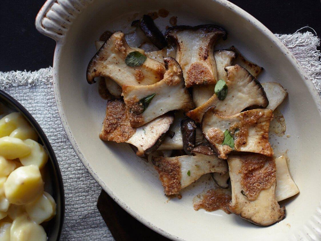 Roasted Oyster mushrooms