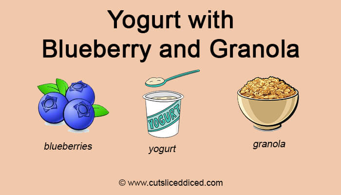 Yogurt with blueberry and granola