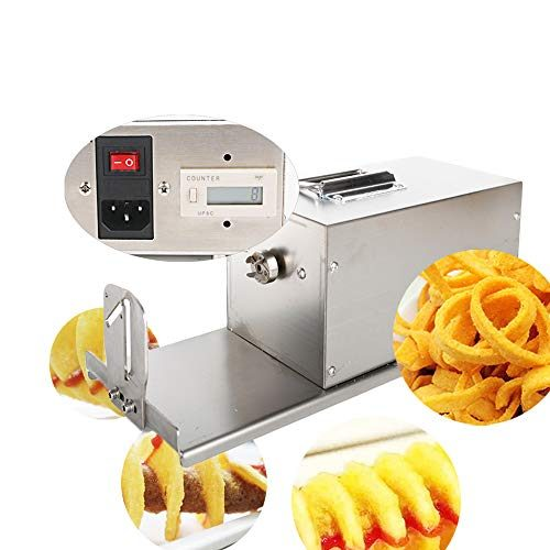 Electric Potato Tornado Slicer Automatic Cutter Machine Twister Spiral