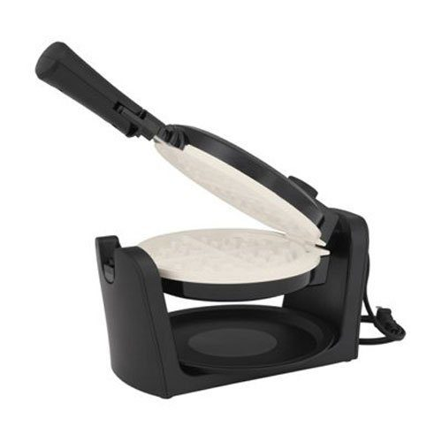 Oster Titanium-Infused DuraCeramic Flip Waffle Maker, Black